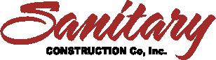 Sanitary Contruction - Red Script Logo